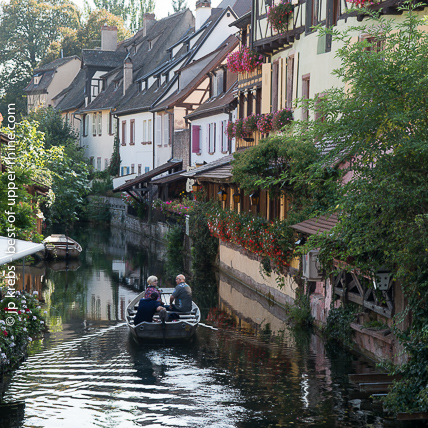 In the Little Venice (Petite Venise) historical quarter of Colmar.