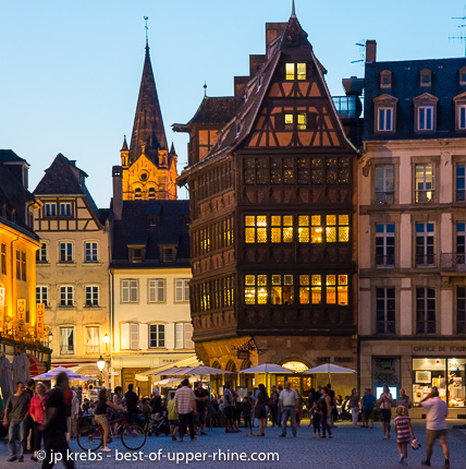 Medieval Inn Kammerzell in the historical city center of Strasbourg (World Heritage)